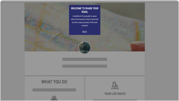 Screenshot of Share Your Road career profile
