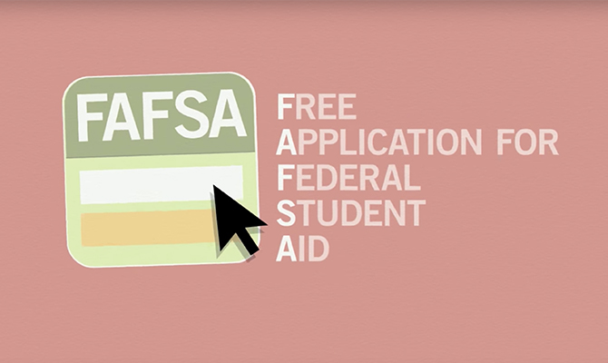 Icon: FAFSA stands for Free Application for Student Aid