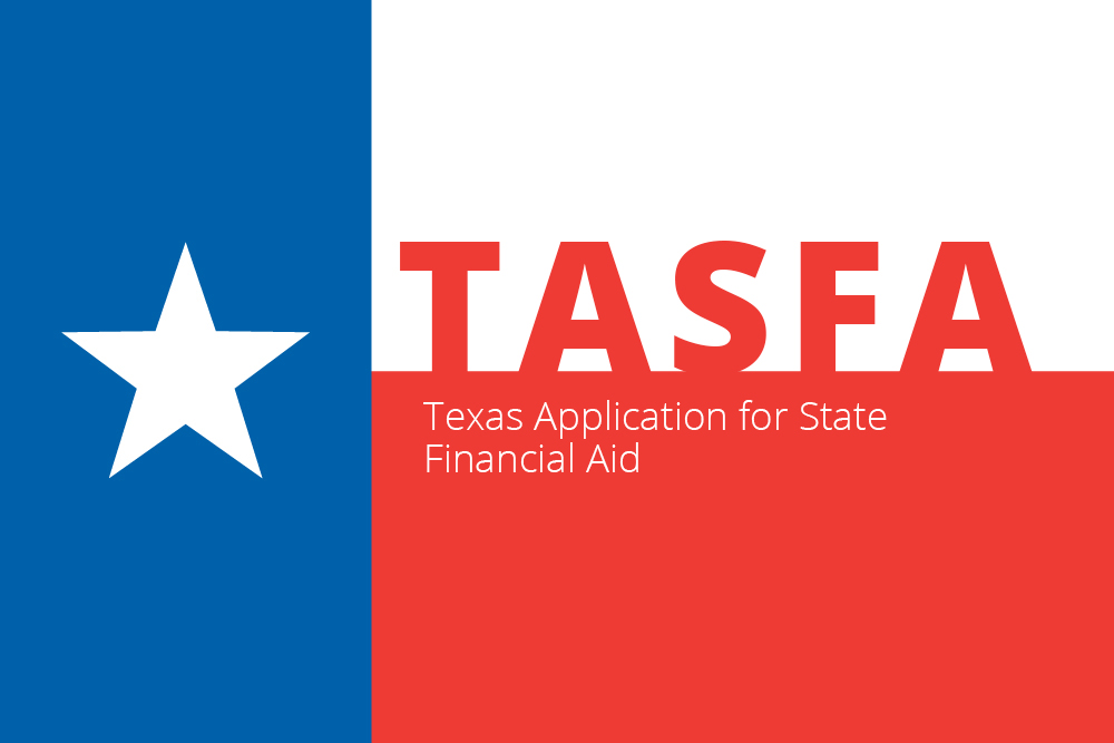 Texas Flag labeled Texas Application for State Financial Aid