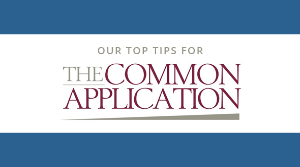 Text: Our top tips for the Common Application