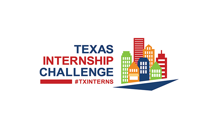 Internship Challenge logo: road leading into cityscape