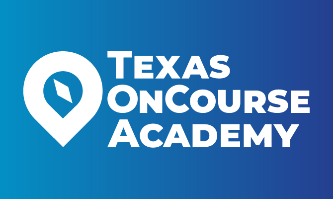 Texas OnCourse logo