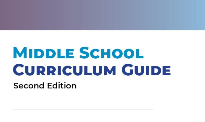 Screenshot of the Texas OnCourse Middle School Curriculum Guide