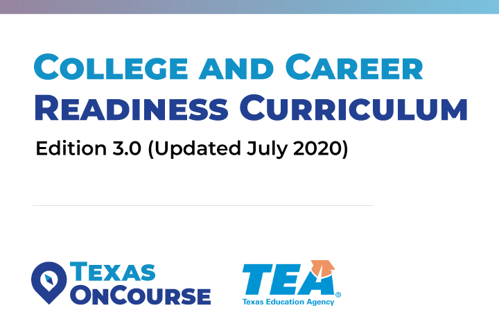 Cover of the third edition of the Texas OnCourse College and Career Readiness Curriculum
