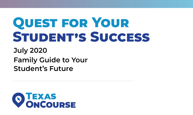 Screenshot of Quest for Your Student's Success - the Texas OnCourse family guide